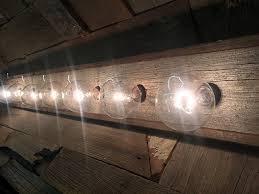 Rustic Barn Bathroom Lights by Amazon Com 8 Bulb Rustic Barn Wood Bathroom Vanity Light Bar