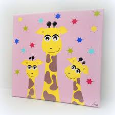 tableau chambre bébé fille tableau chambre bébé fille girafes 30x30cm un grand marché