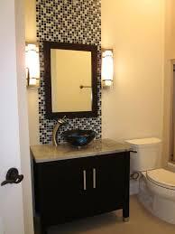 bathroom modern wall sconce applied above bathroom vanity for