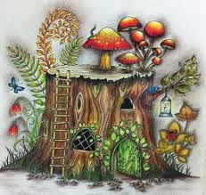 Coloring Books Colouring Adult Pages Enchanted Forest Book Tree Stump Johanna Basford