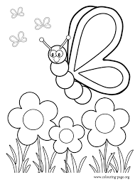 Flower Garden Coloring Pages Great