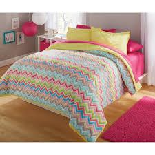 Queen Size Bed Sets Walmart by Your Zone Bedding Comforter Set Bright Chevron Walmart Com
