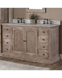 Bathroom Vanity New Year S Shopping Special Infurniture Rustic Style 60 Inch Pretty Design