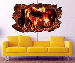 3d wandtattoo lagerfeuer feuer kamin kaminfeuer holz bild wandbild sticker wandmotiv wohnzimmer wand aufkleber 11f138 wandbild größe f ca 140cmx82cm