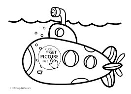 Submarine Transportation Coloring Pages For Kids Printable Free
