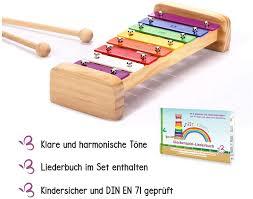 schmetterline harmonisches xylophon für kinder aus holz mit notenheft glockenspiel und liederbuch mit 15 deutschen kinderliedern zum noten lernen