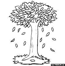 Falling Leaves Coloring Page