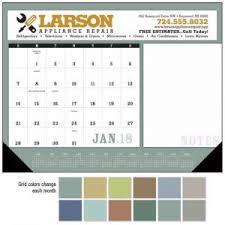 custom imprinted highland 22 x 17 desk blotter calendar
