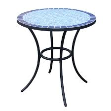 shop garden treasures pelham bay tile top black patio bistro