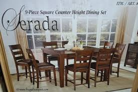 Dining Table Costco Universal Furniture 9 Piece Square Counter Height Set Teak Outdoor