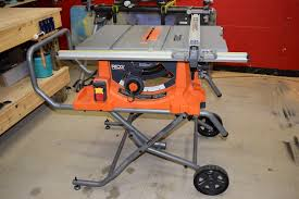 Ridgid Wet Tile Saw by Ridgid R4513 Portable Table Saw Review Workshop Addict Wood