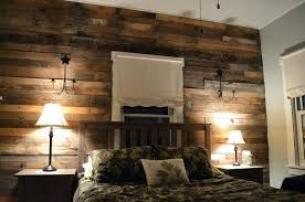 Wood Accent Wall Pallet Walls Master Bedroom