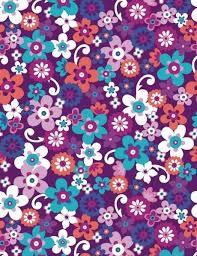 Funky Purple Flowers Scrapbook Paper Cliquer Au Dessus De Limage In Free Printable Designs Pink