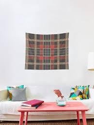 schottisch schottischer tartan plaid rot gold schwarz grün wandbehang