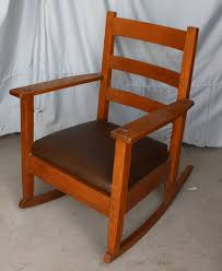 Antique Mission Oak Rocking Chair Rocker - Lifetime Furniture Company Arts  & Crafts