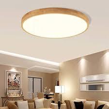 fcx light holz rund led deckenleuchte dimmbar wohnzimmer schlafzimmer modern holz stil deckenle esszimmer fernbedienung
