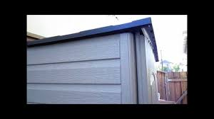 Rubbermaid Tool Shed Accessories by Review Of The Rubbermaid Storage Shed Youtube