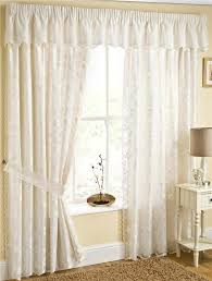 Ebay Curtains With Pelmets Ready Made by Fiji Fully Lined Cream Lace Curtains With Butterflys Choice Of
