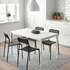 melltorp adde tisch und 4 stühle weiß schwarz 125 cm