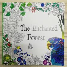 The Enchanted Forest Coloring Book For Adult Kids Mandala Secret Garden Books Antistress Art Quiet Color Drawing 2525cm 48pages Best Colouring