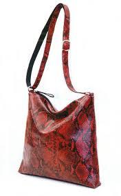 Italian Python Print Embossed On Leather Handbag Crossbody