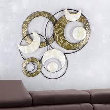 wanddeko wohnzimmer metall caseconrad