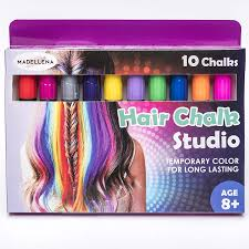 Amazon.com: Beautiful Hair Chalk For Girls – Hair Chalk – Temporary ...