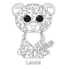Leona The Leopard TY Beanie Boo Elahs 8th Birthday Pinterest