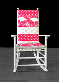 100 Rocking Chair Cushions Pink Peacock Polka Dot Cushion