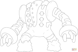 Click The Regigigas Pokemon Coloring Pages To View Printable Version Or Color It Online Compatible With IPad And Android Tablets