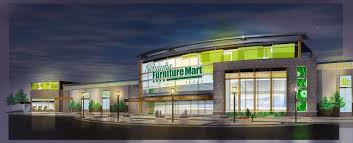 Night rendering of Nebraska F Nebraska Furniture Mart fice