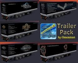 100 Truck Trailer Games TRAILER PACK GAMES V10100 ETS2 Euro Simulator 2 Mods