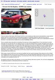 Ferrari 512 Bbi Replica | Hooniverse Best North Jersey Craigslist For Sale Wanted Cars Trucks By Owner Ct Free Cars Classic Best Car 2017 Dallas Fort Worth Image Of Sckton Sf Bay Area By And Long Island Truck Arena 1985 Toyota Corolla Used And New 20 Macon Phoenix A Guide To Florida On Ltt Warning 1986 Crx Offtopic Red Pepper Racing Seattle