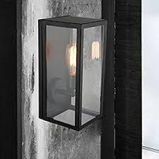 antique matte black lantern outdoor wall sconce light fixture