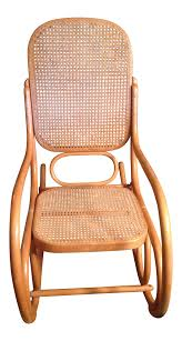 100 Woven Cane Rocking Chairs Mid Century Modern Natural Beech Wood Bentwood And