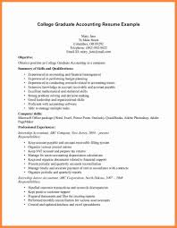 Samples Of Good Resume For Fresh Graduates Awesome Sample Graduate Accounting Template Idea