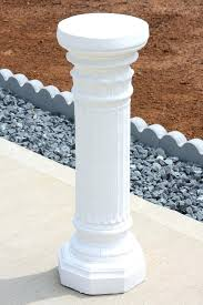 White Column Plant Stands Back To Pedestal Plant Stand Home Ideas