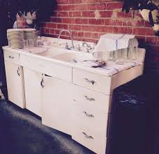 Vintage Youngstown Kitchen Sink Cabinet by Delicious Industrial Decor Makes Eating At The Lark Experiencial
