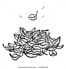fallen leaves cartoon vector and illustration black and white hand drawn sketch
