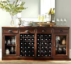 Dining Room Bar Buffet Modular With 2 Wine Grid Bases