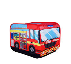 Amazon.com: 'Playscene' Fire Engine Truck Pop Up Play Tent For ...