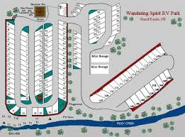 Wandering Spirit RV Park Layout Map