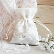 1PC Vintage Wedding Favor Cloth Bags Dainty Lace Bagsdrawstring Thank You