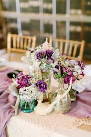 Purple Rustic Wedding Centerpiece