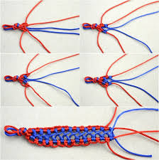 How To Make A Braided Bracelet Handmade Fashion Jewelry Bicolor Woven Hemp Patterns For Step 3