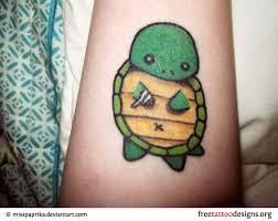 Cute Turtle Tattoos Women