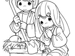 Coloring Pages Baby Jesus Printable