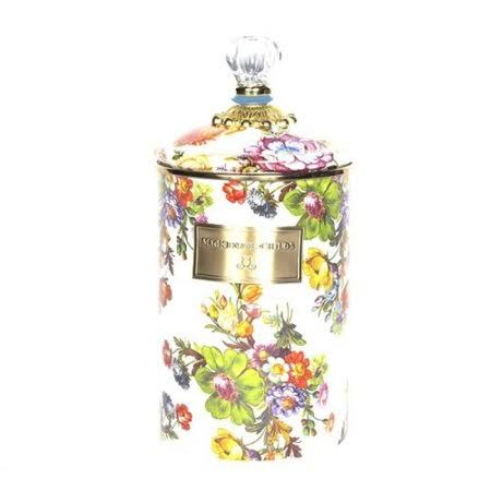 MacKenzie-Childs Flower Market White Large Canister