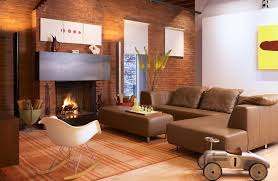 monochromatic brown living room interior palette color with lined