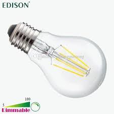new dimmable edison cob filament globe light e27 e26 led 110 240v